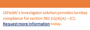 LSPediA's Investigator solution provides turnkey DSCSA compliance for section 582 (c)(4)(A) - (C)