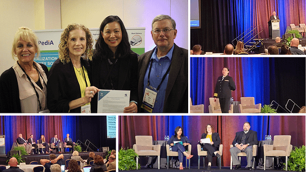 Collage: Dian McDougall, Ruby Raley, and Jim Toland of Axway join Riya Cao, CEO of LSPediA at HDA Traceability 2019. Jeffery Denton speaks on Blockchain in the Pharmaceutical Supply Chain. Dr. Connie Jung provides an FDA Overview. Justine Freisleben, Shaun Z. Kirkpatrick, David Mason, Andrew Meyer, and Matt Sample speak on the challenges of DSCSA. John Dittman, Elizabeth Gallenagh, and Vidya Rajaram provide a blueprint for 2023.