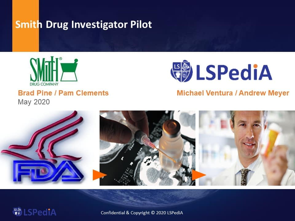 Smith Drug Investigator Pilot Webcast