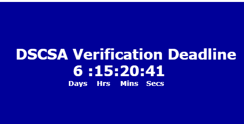 countdown to DSCSA November deadline