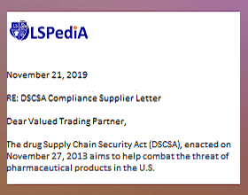 DSCSA Drug Supply Chain Security Act Compliance