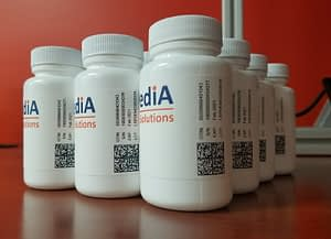 LSPediA Serialized drug product with 2D barcodes